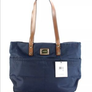 New Calvin Klein navy blue nylon tote handbag.